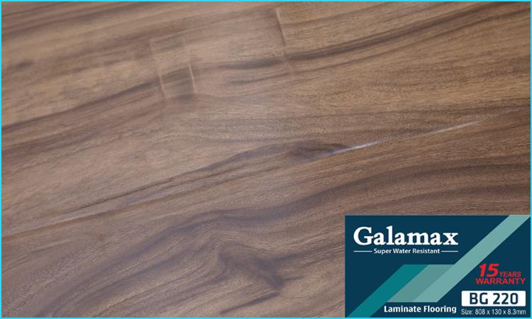 Bề mặt sàn gỗ Galamax - Bóng nhẹ ít sần